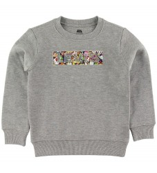 Levis Sweatshirt - Levis x Super Mario - Gråmeleret m. Mario