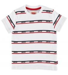 Levis T-shirt - Bandero - Hvid m. Logo/Striber