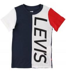 Levis T-shirt - Colorblocked - Navy/Hvid m. Print