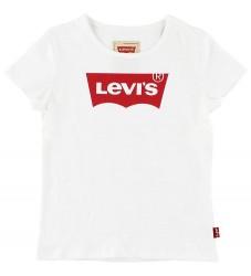 Levis T-shirt - Hvid m. Rød Logo