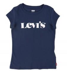 Levis T-shirt - Medieval Blue m. Hvid