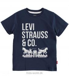 Levis T-shirt - Navy m. Tekst