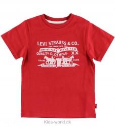 Levis T-shirt - Rød m. Tekst