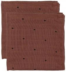 Liewood Stofbleer - 2-pak - Hannah - 70x70 - Bordeaux m. Prikker