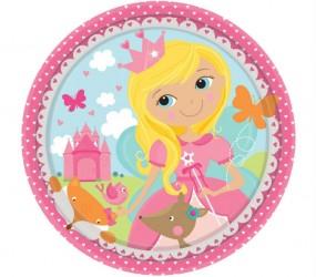Lille paptallerken - Woodland Princess (8 stk)