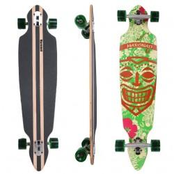 Longboard 41 ''DROP TROUGH RACE'' Skateboard m/LED Lys, ARUBA