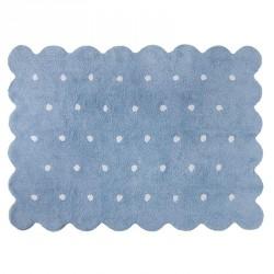 Lorena Canals vaskbart gulvtæppe, galleta blå - 120 x 160