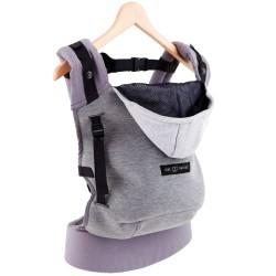 Love Radius bæresele - Hoodie Carrier - Flannel Grey