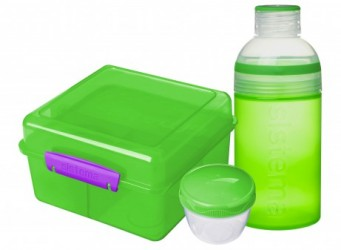Lunch Pack fra Sistema - Lunch Cube Max m. Trio drikkedunk - Grøn