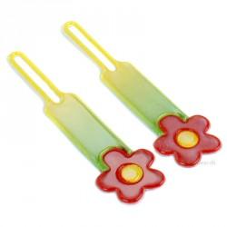 Lynlåsvedhæng med 3M refleksfolie - Flower (2 stk.)