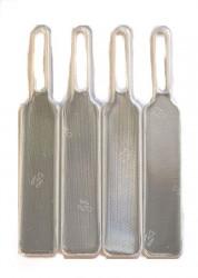 Lynlåsvedhæng med 3M refleksfolie - Hvid (4 stk.)