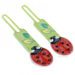 Lynlåsvedhæng med 3M refleksfolie - Ladybug (2 stk.)
