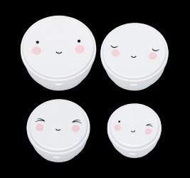 Madbokse fra A Little Lovely Company - Happy Face (4 stk)
