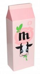 Mælkekarton i træ fra Magni - Rosa