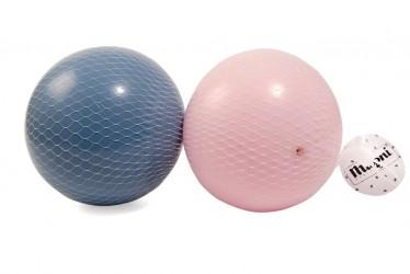 Magni 2 Plastikbolde i net (lyserød og blå )