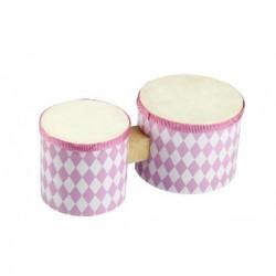 Magni Bongotromme - Pink/hvid