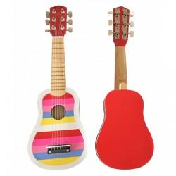 Magni Stribet Guitar - Pink