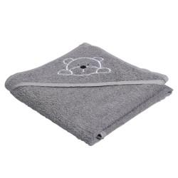 Manostiles babyhåndklæde - Grå