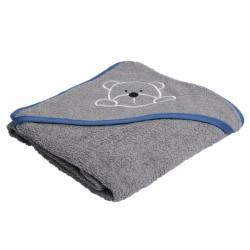 Manostiles babyhåndklæde - Grå/blå