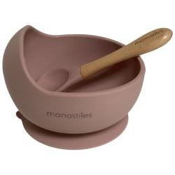Manostiles spisesæt - Dusty Lilac - Sart rosa