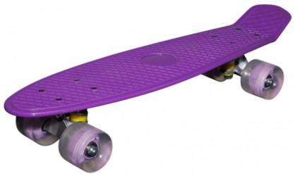 MCU-Sport Lilla LED Skateboard m/LED Lys + ABEC7