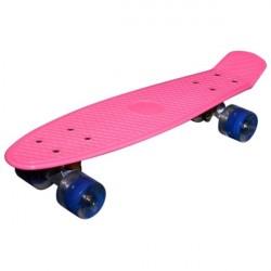 MCU-Sport Pink LED Skateboard m/LED Lys + ABEC7