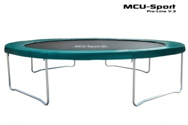 MCU-Sport Pro-line 3,7m Grøn Trampolin V3.0