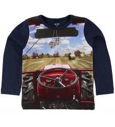 Me Too Bluse - Navy m. Traktor