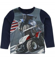 Me Too Bluse - Navy m. Traktorer