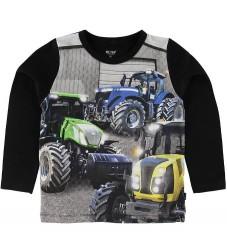 Me Too Bluse - Sort m. Traktorer