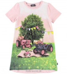 Me Too Kjole - Pink m. Traktor