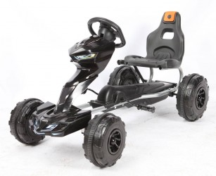 MegaLeg Pedal GoKart til børn 3-5 år, Sort