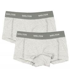 Melton Hipsters - 2-pak - Hvid m. Glimmerprikker