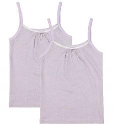 Melton Undertrøje - 2-pak - Lavendel m. Glimmerprikker