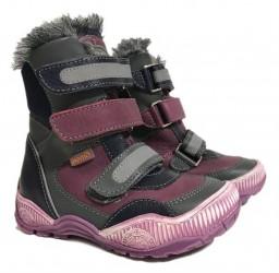 Memo Colorado vinterstøvler med ekstra støtte, violet