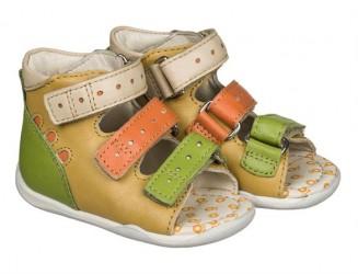 Memo Dino, sandal, gul - sandal med ekstra støtte