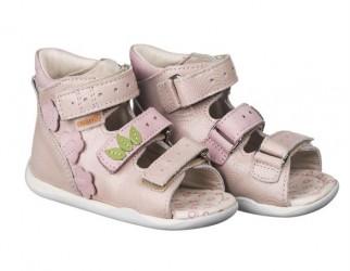 Memo Dino sandal, rosa - pigesandal med ekstra støtte
