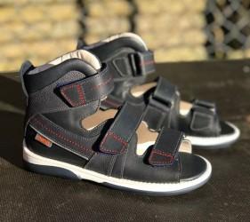 Memo Hermes sandal, navy blue - sandal med ekstra støtte