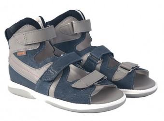 Memo Hermes sandal, navy/grå - med ekstra støtte