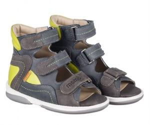 Memo Michael, sandal, grå/grøn - sandaler med ekstra støtte