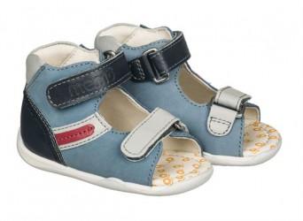 Memo Miki, drengesandal, blå - sandal med ekstra støtte
