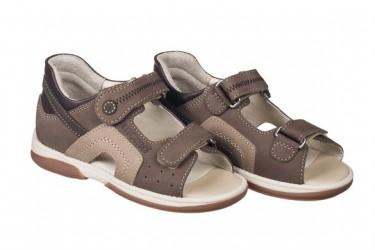 Memo Szafir sandal, brun/sand - sandal med ekstra støtte