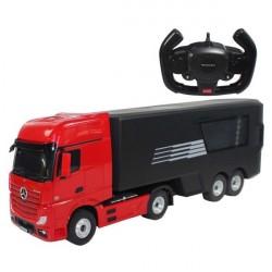 Mercedes-Benz Actros Fjernstyret Lastbil med container 2.4G Rød
