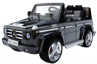 Mercedes SUV G55 Elbil til Børn 12V m/Gummihjul + fjernb