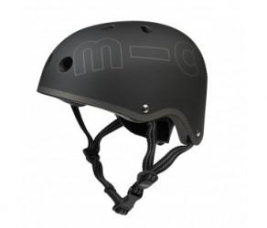 Micro Mini Cykelhjelm - Sort - Str. 48-53cm - Skater med hård skal