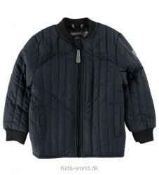 Mikk-Line Termojakke - Coated - Navy/Sort