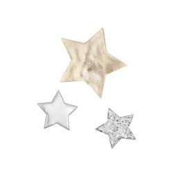 Mimi & Lula 3 Hårclips med Stjerner - Artic