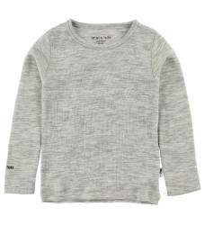 Mini A Ture Bluse - Uld/Bambus - Gråmeleret