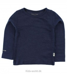 Mini A Ture Bluse - Uld/Bambus - Navy