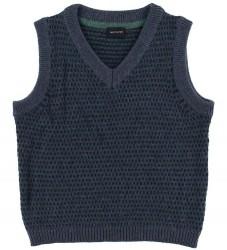 Mini A Ture X-Mas Vest - Uld - Robbi - Blue Nights